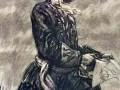 Дементий Шмаринов. Петр I с чертежом. Иллюстрация. 1940. Бумага, черная акварель, уголь