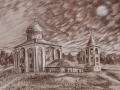 The Church of Savior on Nereditsa. Pencil on paper. 2011.