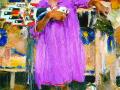 Девочка в фиолетовом платье. 1927–1933. Х., м.