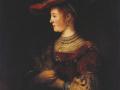 Рембрандт Ван Рейн. Саския в красной шляпе. 1634. Х., м.
