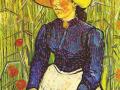 Винсент ван Гог. Крестьянка в соломенной шляпе. 1890. Х., м.