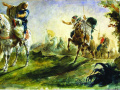 Арабские всадники скачут на поиски. 1862. Х., м.
