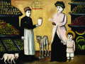 Татарин – торговец фруктами. Картон, масло
