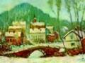 «Зимний пейзаж (Сандвикен)», 1895г., х.м.