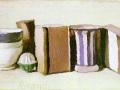 Натюрморт.1951. (Чашки и коробки) Х., м.