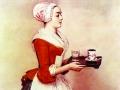 Жан-Этьен Лиотар. Шоколадница. 1745. Пергамент, пастель, 82,5x52,5 см. Картинная галерея. Дрезден