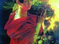 Иван Хруцкий. Портрет молодой женщины с корзиной. 1835. Х., м.