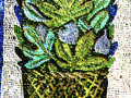 Ваза с кактусами. Фрагмент. Мавзолей Галлы Плацидии. Мозаика