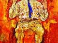 Эгон Шиле. Портрет Альберта фон Гютерсло. 1918. Х., м.