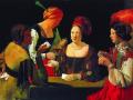 Жорж де Латур. Шулер с бубновым тузом. 1635. Х., м.