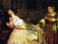 Павел Федотов. Сватовство майора. 1848. Х., м. Фрагмент