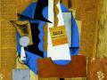 Пикассо, «Бутылка Сьюз», 1912, х.м., коллаж