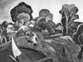 «Пейзаж с парусом». 1912. х.м.