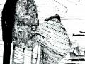 «С.В. ПОЗИРУЕТ», тушь, палочка Даша Сидорова, 11 лет, п. Тымовское, о. Сахалин