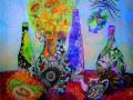 """Ольга Романькова, 16 лет, """"Стилизованный натюрморт"""", г. Белгород, ДХШ, преп. Э.А. Цыбульникова."""