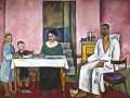 Пётр Кончаловский. Автопортрет с семьёй (сиенский портрет). 1912. Х., м.