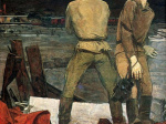 Анатолий Никич. Военные корреспонденты. 1965. Холст, масло. 209 х 198. Государственная Третьяеоская галерея