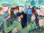 Эдуард Криммер. Танцы. 1945. Из серии Бал победителей. Государственный Русский музей