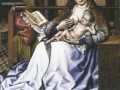 Роберт Кампен. Мадонна с младенцем перед камином. 1500-1525